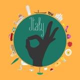 Перемещение к иллюстрации концепции Италии иллюстрация вектора