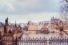 Перемещение к Праге Стоковые Изображения RF