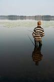 перемещение лета 3 рыболовов Стоковое Фото