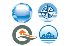 перемещение логоса иконы Стоковое Изображение