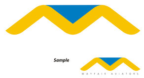 перемещение логоса компании avaition Стоковые Изображения