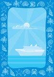 перемещение моря рамки Стоковое Изображение