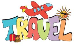Перемещение написанное с самолетом Стоковое Изображение
