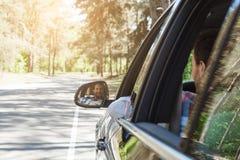 Перемещение отключением семьи автомобиля совместно отдыхает Стоковая Фотография RF