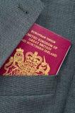 перемещение пасспорта изображения дела Стоковая Фотография RF