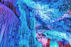 Перемещение пещеры Soreq Avshalom в Израиле Стоковые Фотографии RF