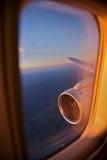 перемещение плоскости полета Стоковая Фотография