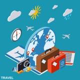 Перемещение, путешествуя, концепция вектора каникул Стоковая Фотография