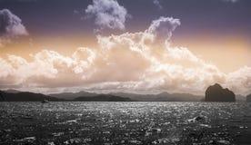 Перемещение пляжа счастья, рай El Nido Стоковое Изображение
