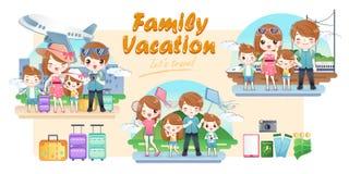 Перемещение семьи счастливо бесплатная иллюстрация