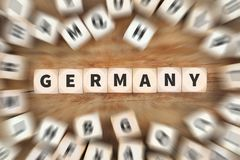 Перемещение страны Германии путешествуя концепция дела кости Стоковое Фото