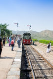 Перемещение сумки поезда Azadi приходя к Пешавару и такому же молодому Photogr Стоковая Фотография