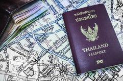 Перемещение Таиланда пасспорта Стоковая Фотография