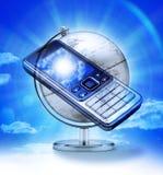 перемещение телефона клетки гловальное Стоковые Фотографии RF