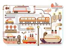 Перемещение, туризм, переход - vector иллюстрация Стоковое Изображение RF