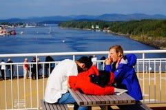 Перемещение туристического судна, Langesund, Норвегия стоковые фотографии rf