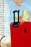 перемещение чемодана карты багажа глобуса Стоковые Фото