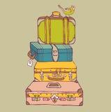 перемещение чемоданов Стоковое фото RF