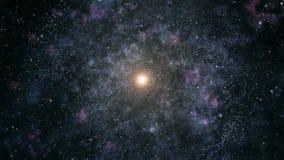 Перемещение через галактику видеоматериал