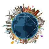 Перемещение, шаблон дизайна логотипа вектора путешествием отключение Стоковая Фотография