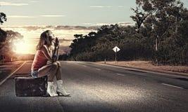 Перемещение Autostop Стоковые Изображения