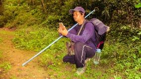 Перемещение Hiker Стоковое Фото