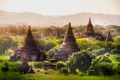 Перемещения Бирмы висков Мьянмы королевство bagan светлого языческое Стоковое Изображение RF