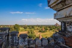 Перемещения Бирмы висков Мьянмы королевство bagan светлого языческое Стоковая Фотография RF