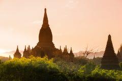 Перемещения Бирмы висков Мьянмы королевство bagan светлого языческое Стоковые Фотографии RF