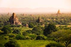 Перемещения Бирмы висков Мьянмы королевство bagan светлого языческое Стоковое Изображение