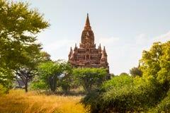 Перемещения Бирмы висков Мьянмы королевство bagan светлого языческое Стоковое фото RF