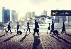 Перемещения туристического судна отключения бизнесмены концепции путешествием Стоковая Фотография
