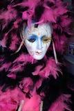 Перемещени-новые маска и пер Орлеана-Mardi Gras Стоковые Изображения RF