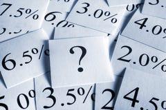 перемеююый процентной ставки Стоковые Фото