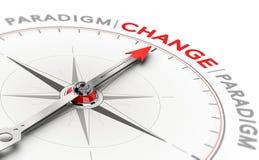 Перенос парадигмы, разрушительное изменение в технологии или наука стоковое изображение