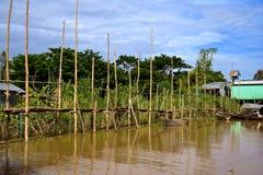 перепад mekong около порта Стоковое Изображение