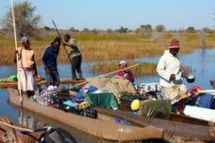 Перепад Okavango Стоковое Изображение