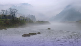 Традиционный китайский картин-как южный пейзаж Стоковое Фото