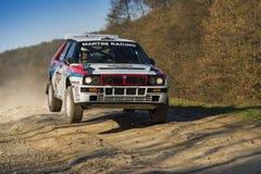 Перепад Integrale Lancia (нет 14) состязает на ежегодном ралли Стоковое Изображение
