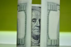Переплетенная долларовая банкнота 100 Стоковая Фотография