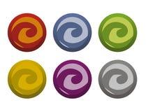 переплетенные кнопки Стоковые Фотографии RF