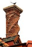 Переплетенная печная труба кирпича на белой предпосылке Стоковые Изображения