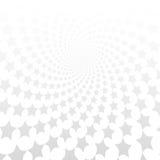 Переплетенная спираль звезд Белая & серая абстрактная предпосылка Стоковые Фотографии RF