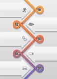 Переплетенный в картину петли срок infographic Стоковая Фотография RF