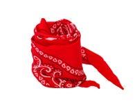 Переплетенный красный bandana Стоковые Фото