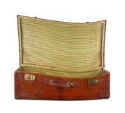 Переплетенный открытый чемодан Стоковые Изображения RF