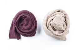 2 переплели женский шарф Стоковая Фотография