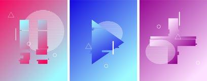 Перерыв, игра, добавочная кнопка в стиле duotone футуристическом Жидкостные элементы o иллюстрация штока