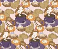 Перерыв на чашку кофе безшовный Стоковые Фотографии RF