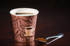 Перерыв на чашку кофе места работы Стоковые Фото